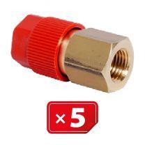 Adaptador Retrofit - 1/4 sae cobre puerto lateral alto (5 uds.)