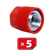 Adaptador Retrofit - 1/4 sae aluminio puerto lateral alto sin núcleo válvula (5 uds.)