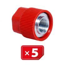 Adaptador Retrofit - 3/16 sae aluminio puerto lateral alto sin núcleo válvula (5 uds.)