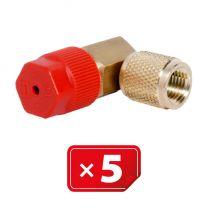 Adaptador Retrofit - 90° 1/4 sae cobre puerto lateral alto (5 uds.)