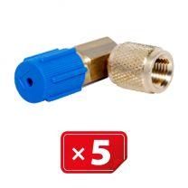 Adaptador Retrofit - 90° 1/4 sae cobre puerto lateral bajo (5 uds.)
