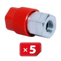 Adaptador Retrofit - 3/16 sae aluminio puerto lateral alto (5 uds.)