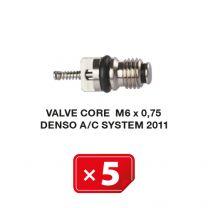 Núcleo de válvula M6 x 0.75 para Sistemas AC Denso 2011 (5 uds.)