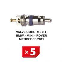 Núcleo de válvula M8 x 1 para Sistemas AC BMW-Mini-Rover-Mercedes 2011 (5 uds.)