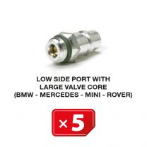 Boquilla lado Baja Presión con válvula larga (BMW-Mercedes-Mini-Rover) (5 uds.)