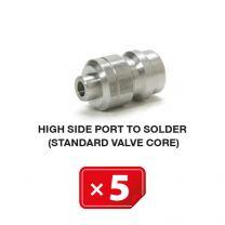 Válvula estándar lado de alta presión (para soldar)(5 uds.)